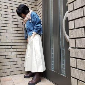 UNIQLOU新作コットンツイルフレアスカートは小柄な大人におすすめ!