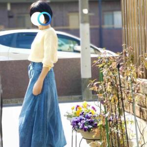 【UNIQLOで春支度②】卵色の990円3Dコットンセーターは大きめがおすすめ