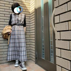 断捨離検討中革ジャケットに女子学生風(←殴蹴)スカートで最終授業へ