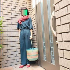 【大人の色遊び④】赤と緑の補色配色でシックなお仕事スタイル