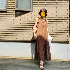 おしゃれどころじゃない猛暑の日はノースリワンピで!!