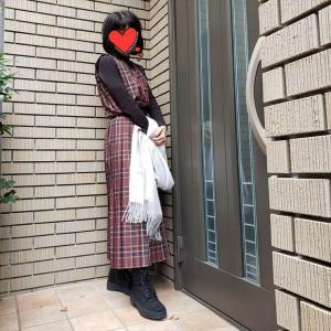 還暦女子が着る女学生風チェック【60代の仕事服】