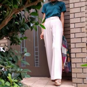 ユニクロTシャツでキレイ目お仕事コーデ アラカンが着るユニクロ81