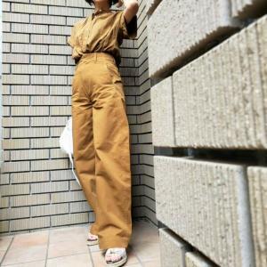 夏素材秋色シャツに秋色カーブパンツ アラカンが着るユニクロ91