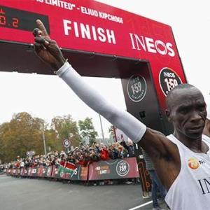 【マラソン】人類初の2時間切り キプチョゲ 1時間59分40秒