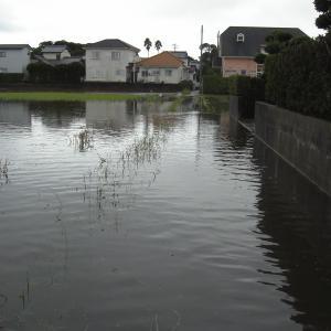 大雨の後の用水路清掃やっと完了