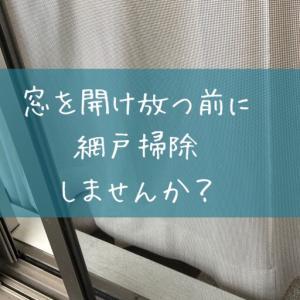 【スプリングクリーニング20分】網戸の拭き掃除は雨上がりに。