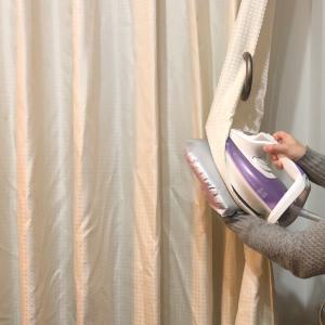 【洗濯30分】100円ショップのアイロングローブでカーテンにできたシワは取れるか!?