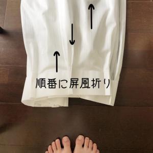 【オキシごと】カーテンのリセット☆シワになりにくい畳み方、洗濯ネット活用〜