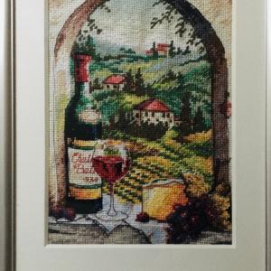 <トスカーナのワインのある窓辺>作品完成