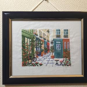 「素敵な隠れ小道」パリ風景完成