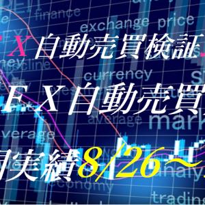 【FX自動売買】週間実績8/26~9/6(トライオートFX、CashRush、パーフェクトゲーム、オートシステム、無料EA)