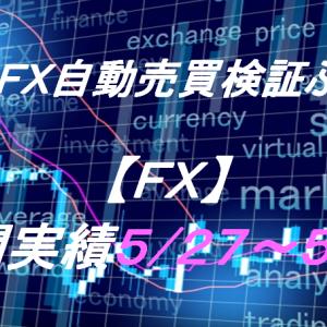 【FX】週間実績5/27~5/31(裁量取引、トライオートFX、CashRush、オートシステム)