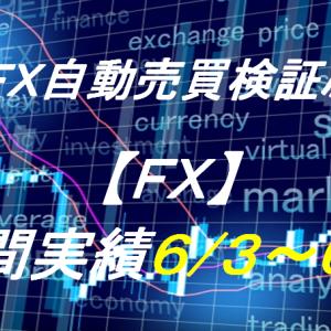 【FX】週間実績6/3~6/7(自動売買爆益!トライオートFX、CashRush、オートシステム)