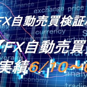 【FX自動売買】週間実績6/10~6/14(トライオートFX、CashRush、オートシステム)