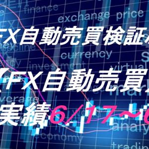 【FX自動売買】週間実績6/17~6/21(トライオートFX、CashRush、オートシステム)