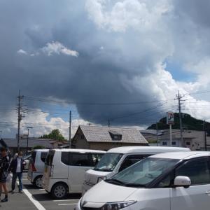 不調によるギブアップと雨雲から逃げるライド