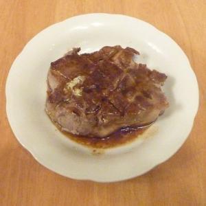 私の料理(イベリコ豚のステーキ)