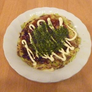 今日の昼食(キャベツ焼き)