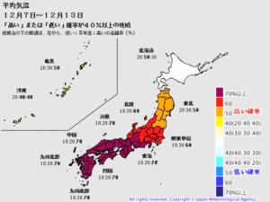 2019.12.12 一日一季語  冬暖か(ふゆあたたか) 【冬―気候―三冬】