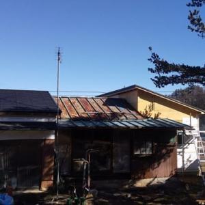 南側ボロ屋根にも手を付けちゃう。