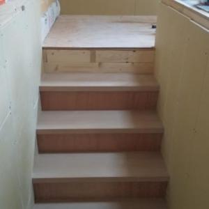 6畳間@階段部分の石膏ボード貼り