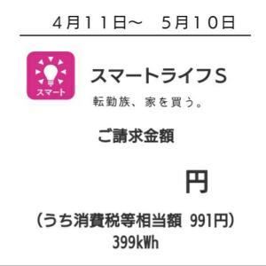 我が家の電気代〜2020年5月分〜