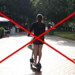 シンガポール 電動キックスクーターは歩道の走行禁止決定、安全基準外は処分へ