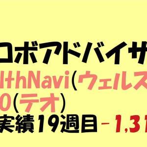 【ロボアドバイザー】WealthNavi(ウェルスナビ)・THEO(テオ)運用実績 19週目-1,317円