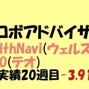 【ロボアドバイザー】WealthNavi(ウェルスナビ)・THEO(テオ)運用実績 20週目-3,915円