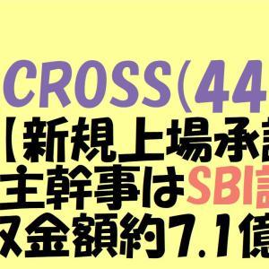 AI CROSS(4476)IPO【新規上場承認】IPO主幹事はSBI証券 吸収金額約7.1億円