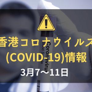香港の新型コロナウイルス(COVID-19)の状況(2020年3月7~11日):北海道へ行った人は隔離施設へ
