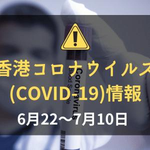 香港の新型コロナウイルス(COVID-19)の状況(2020年6月22~7月10日):【第三波】香港内での感染相次ぐ
