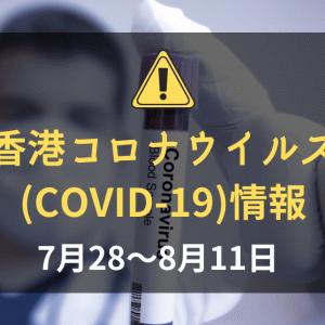 香港の新型コロナウイルス(COVID-19)の状況(2020年7月28~8月11日):依然として香港内では感染者増加継続中