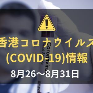 香港の新型コロナウイルス(COVID-19)の状況(2020年8月25~8月31日):