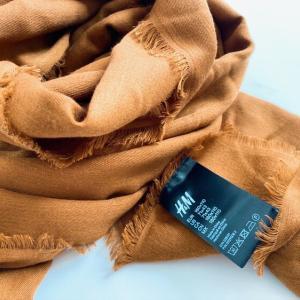 着なくなった服、ブランド問わずH&Mにリサイクルに出せるよ。キャメルのストールを買ったその場で1in1outした話。