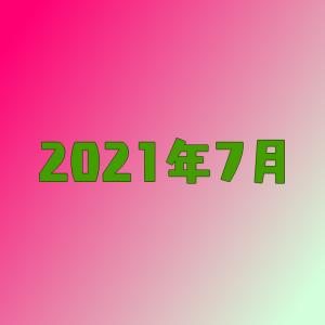 【空想書斎の3年目】とうとうブログ更新すらサボるようにw【2021年7月】