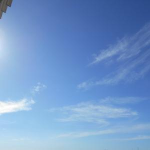 8月11日の空と富士山