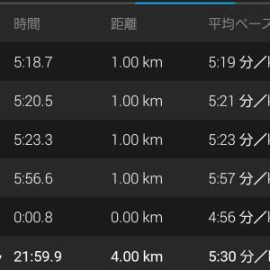△→△ 第1回上林走 上り21:59.9 下り20:08.5