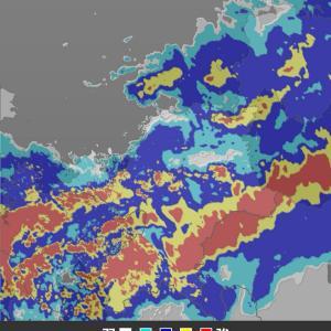 大雨特別警報で大変なことになっています。