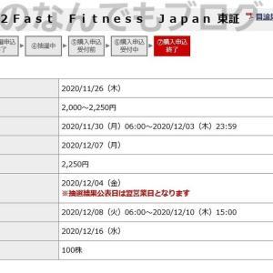 【日記ブログ】2020年12月16日 ファーストフィットネスジャパン初値売り。初めてのウーバーイーツ
