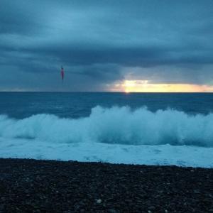 七里御浜 1.5Mの波が私には丁度いい❢