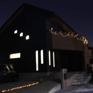 クリスマスイルミネーション ベランダ笠木への取り付け方法