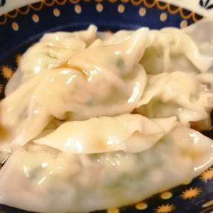 今日のかんたん料理ー水餃子・ゴーヤと肉炒め・ナスとピーマン炒めー肉そば