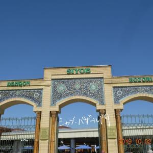 ウズベキスタン ビビハニム・モスク前のシャブ・バザール