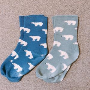 自宅用の靴下2足を処分
