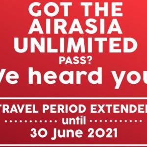 速報!エアアジアUnlimited Passの有効期限が延長へ!