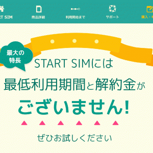 【MNP弾】日本通信から「スタートSIM 音声付」