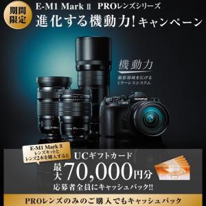 【Ver3.0】OLYMPUS「OM-D E-M1 Mark II」がかなりのファームアップとギフト券最大7万円