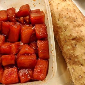 【おうちご飯】マグロの山かけ&鶏の唐揚げ